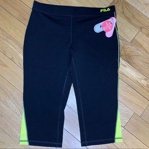 Fila Pants - $Each-Fila Sport Capris Running Pant, Media Pocket